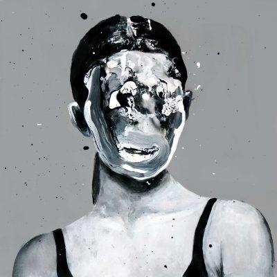 DISPNEA IV di DAVIDE STASINO, SMALTO SU CARTA INTELATA, 20x20 cm, 2020, Pezzo Unico