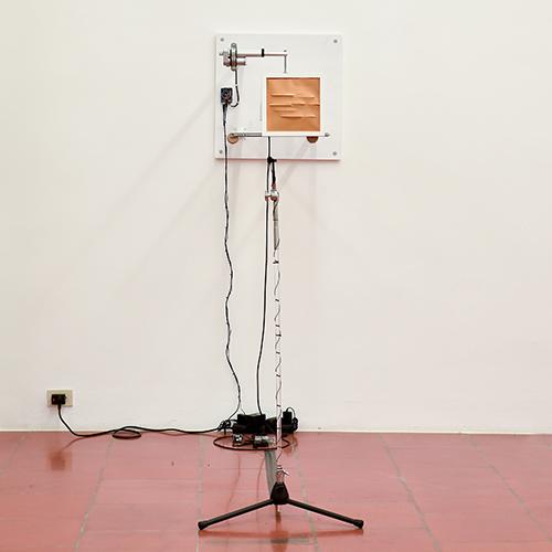scultura cinetica, installazione sonora 2018, 60x60x66 cm